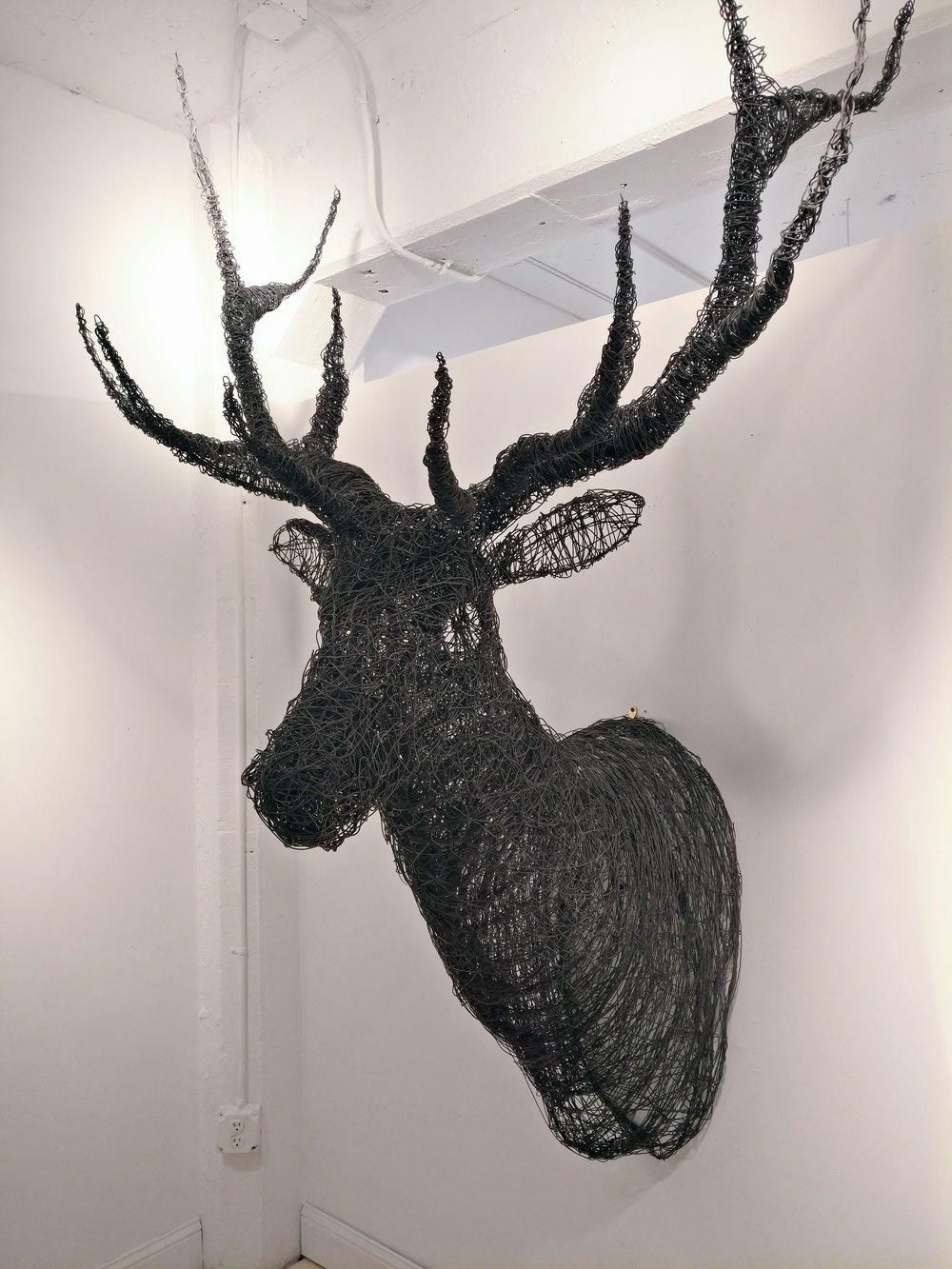 elk mound - Ben Kidd74 x 58 x 42  Sculpted wire