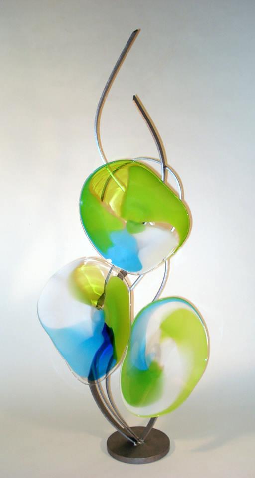 spring medley - Bonnie Hinz45 x 19  Glass and metal