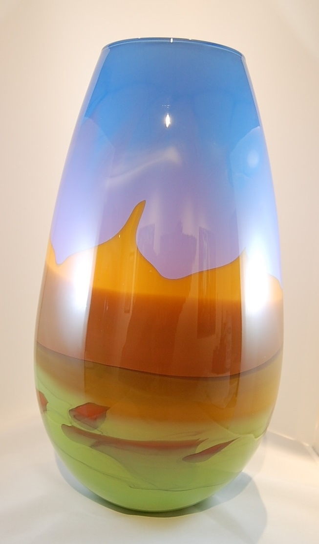 desert landscape vase - Nolan Prohaska16 x 8  Glass