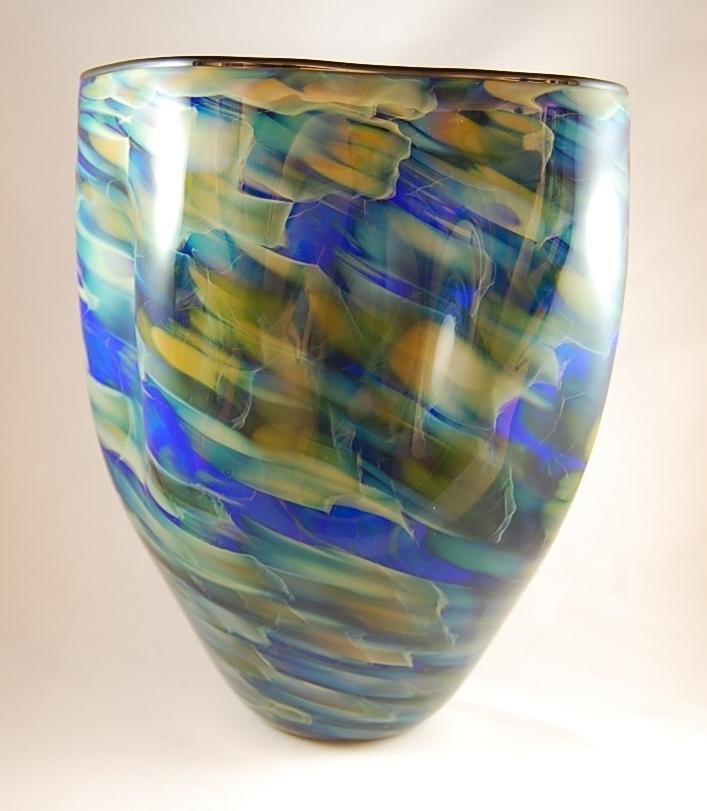 amorphic blue - Seattle Glass Blowing Company9 x 7 x 7  Glass