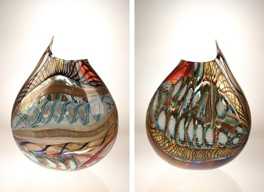 vivo 27 - Vivo14 x 11 x 5  Hand blown Murano glass