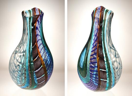 vivo 6 - Vivo19 x 10 x 5  Hand blown Murano glass