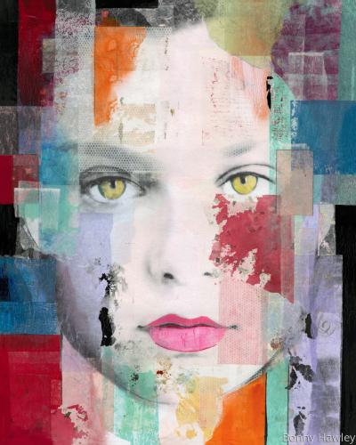 face off - Bonnie Hawley48 x 60  Acrylic on canvas