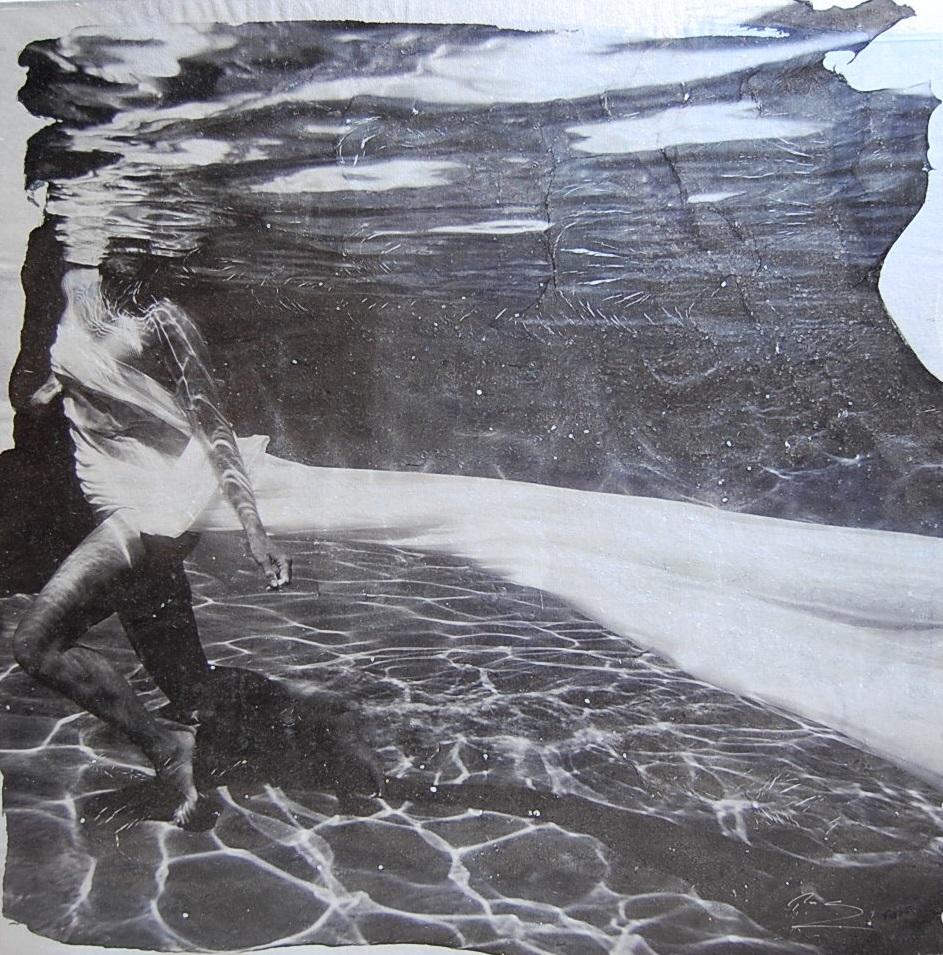 aqueous - Pezhman48 x 48  Mixed media on canvas