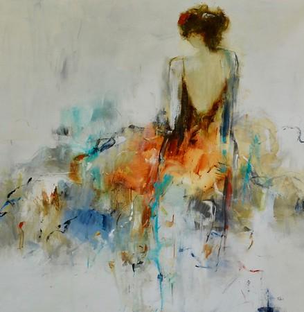 romance and reflection - Lisa Ridgers48 x 48  Acrylic on canvas