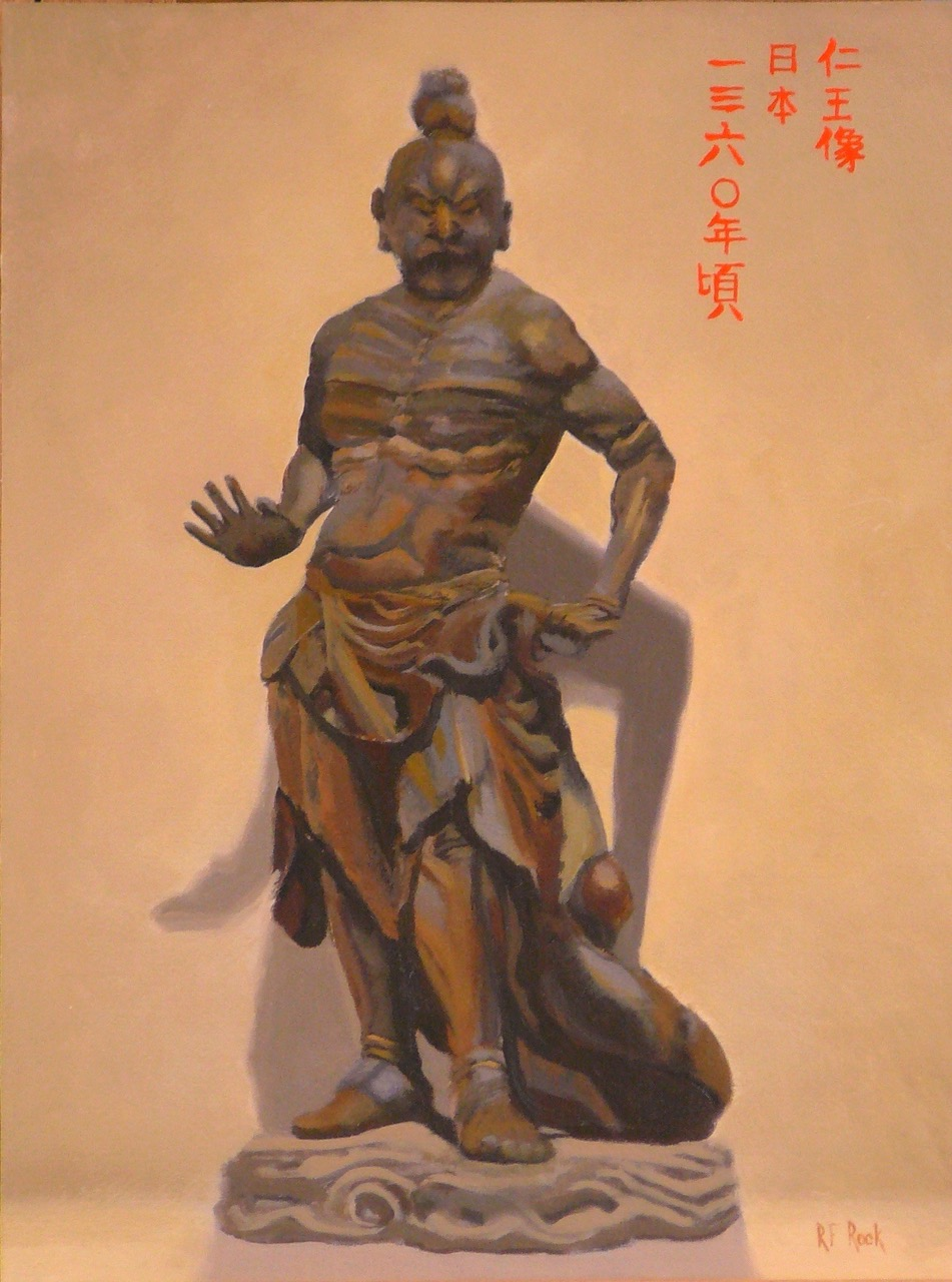 Japanese temple guardian - Richard Rock16 x 10  Oil on canvas