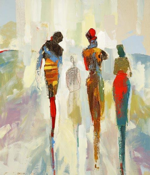 abstract figures - Cecil K32 x 38  Acrylic on canvas
