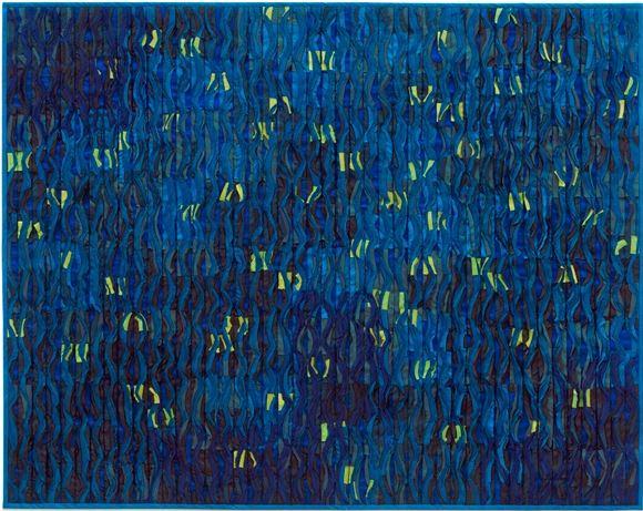 firefly sparks - Tim Harding44 x 35  Hand woven silk