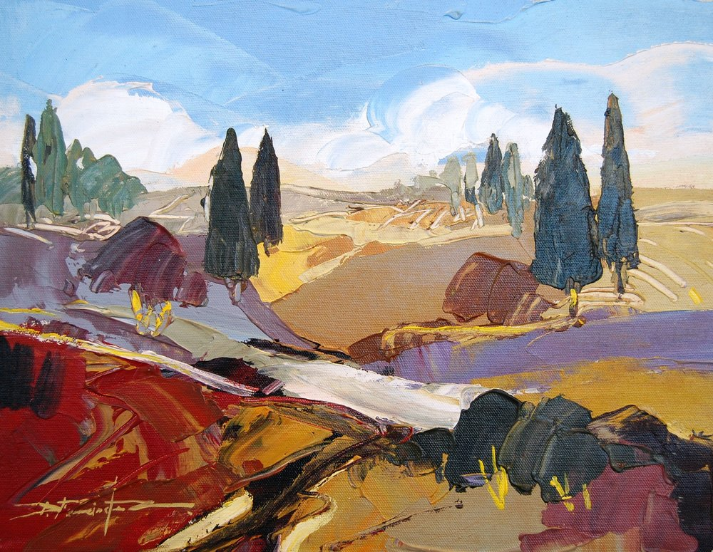 tuscany remanso - Fernandez16 x 12    Oil on canvas
