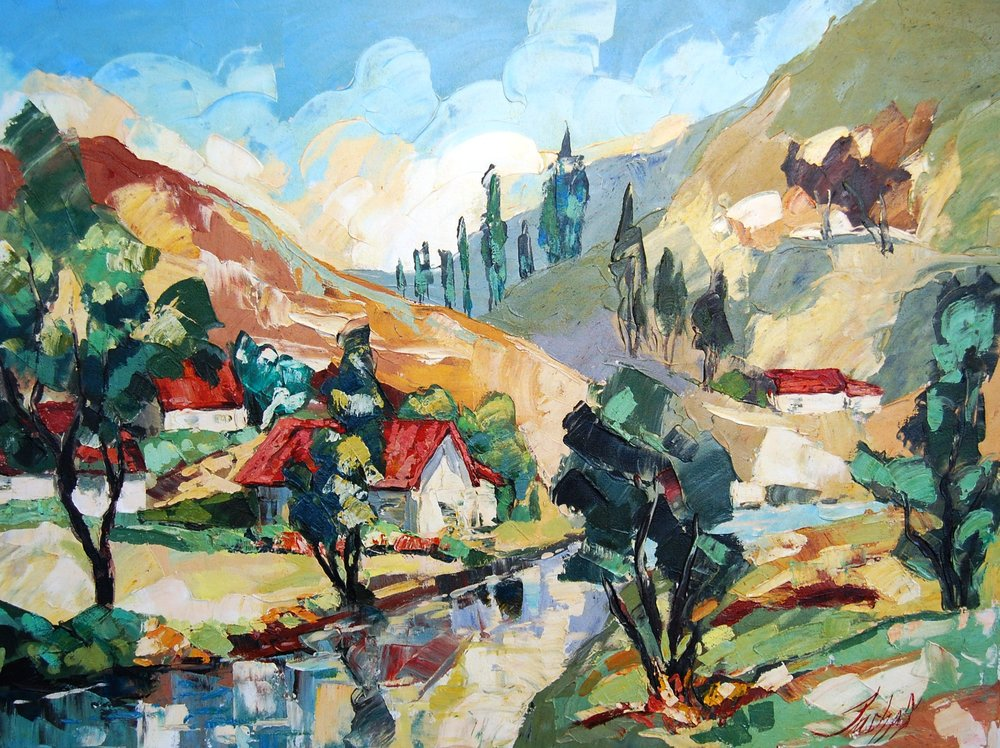 landscape - Sheen40 x 30    Acrylic on paper