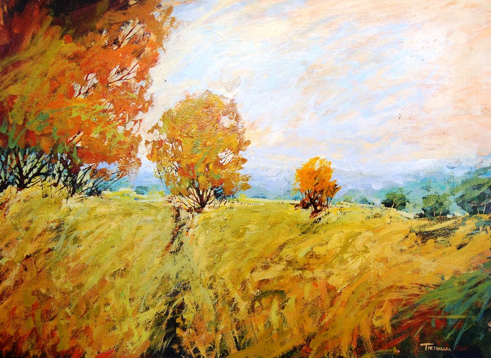 valley - Tienharra34 x 25    Oil on paper
