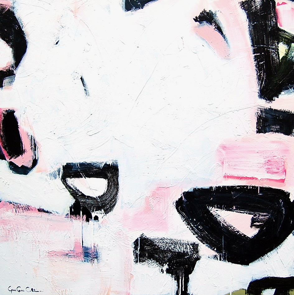 lunch with franz kline and motherwell - Gee Gee Collins48 x 48  Acrylic on canvas