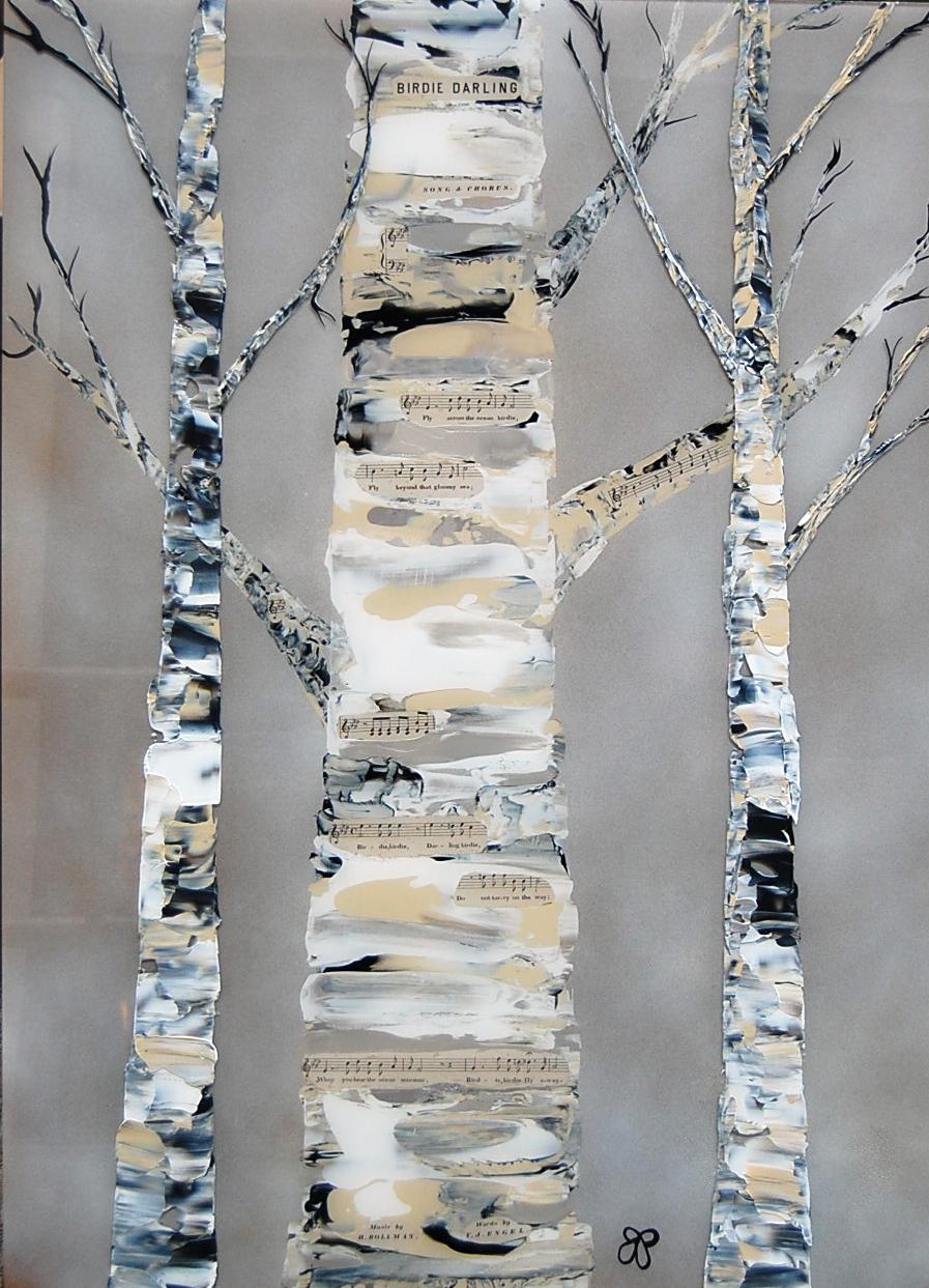 birdie darling - Janella Fesenmaier23 x 32  Acrylic on plexi