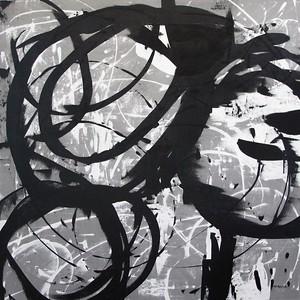gray circling - Jeff Iorillo50 x 50  Acrylic on canvas