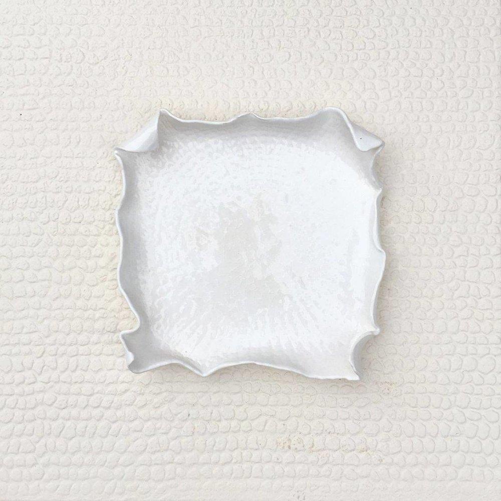 white on white - Susan Piazza13 x 13  Ceramic wall hanging