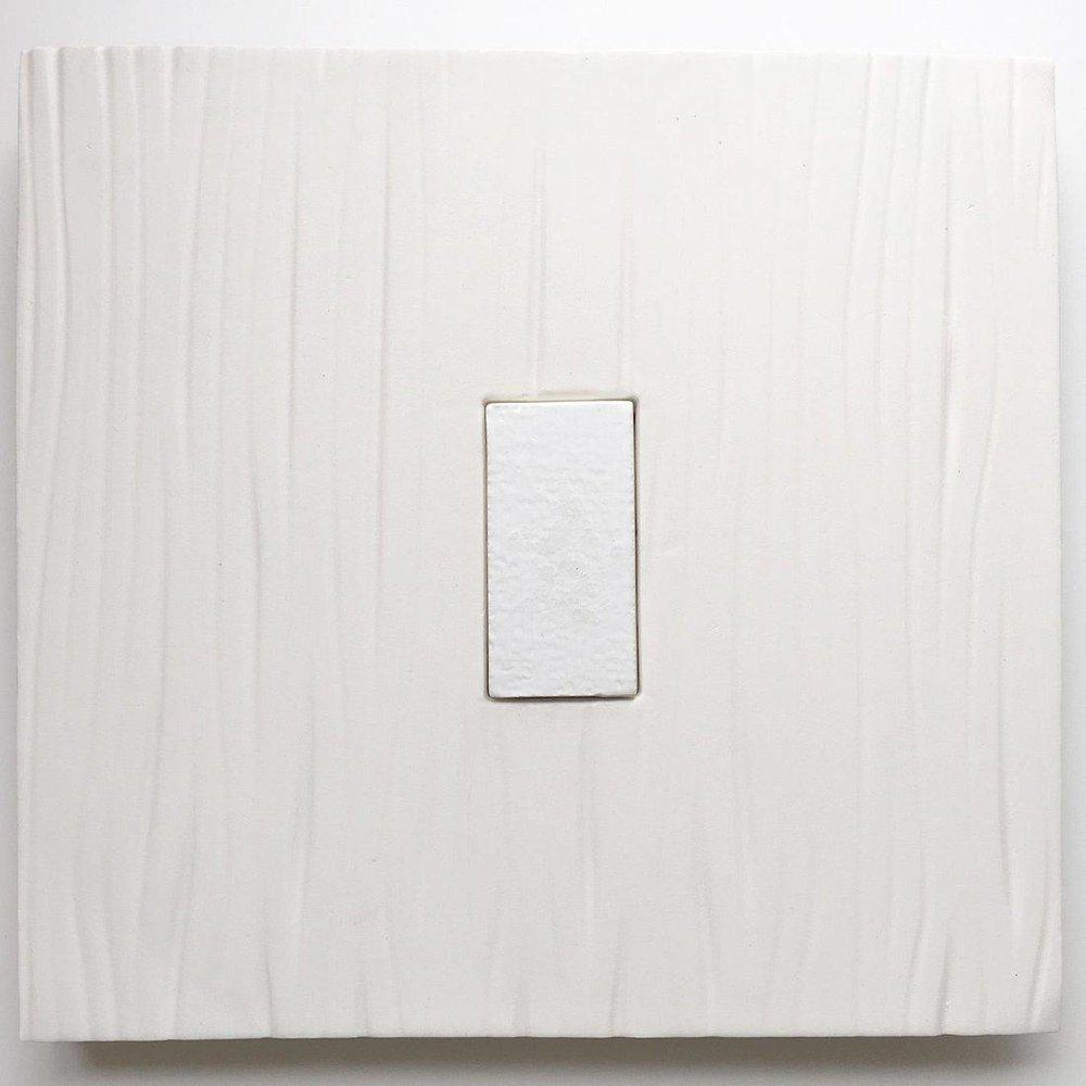 quadrangle - Susan Piazza15 x 15  Ceramic wall hanging