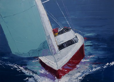 day sailing - Burrows40 x 54    Oil on canvas