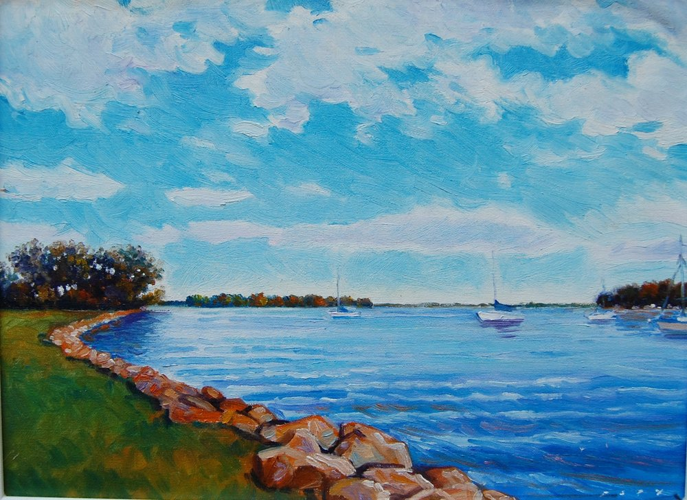excelsior bay - Tom Foty16 x 12    Oil on canvas