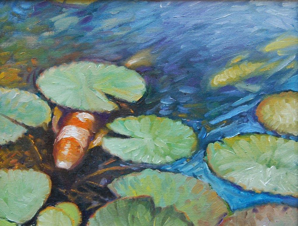 koi - Tom Foty14 x 11  Oil on canvas