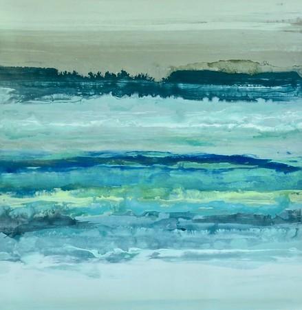 ocean memories - Randy Hibberd40 x 40  Acrylic on canvas