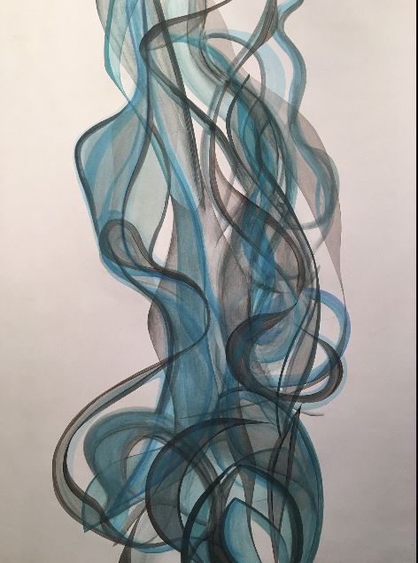 blue desire - Randy Hibberd36 x 48  Acrylic on canvas