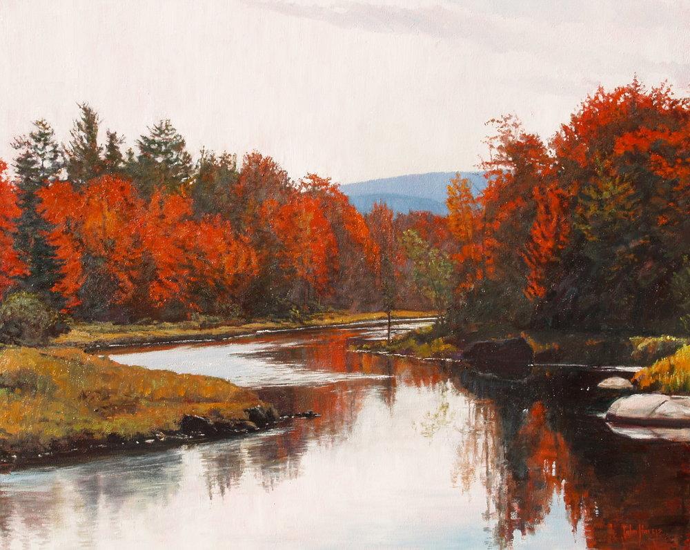 october reflections - John Horejs40 x 50  Oil on canvas