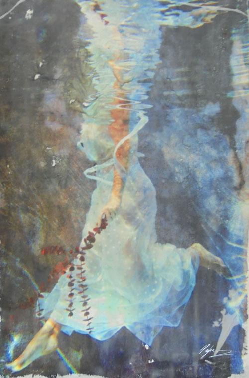 aqueous - Pezhman24 x 36  Mixed media on paper