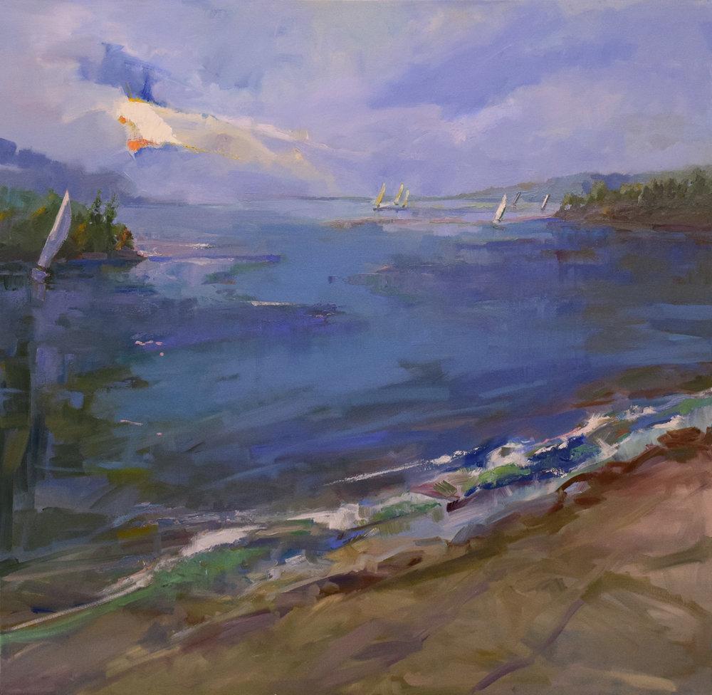 purple reflections - Jessie Rasche40 x 40  Oil on canvas