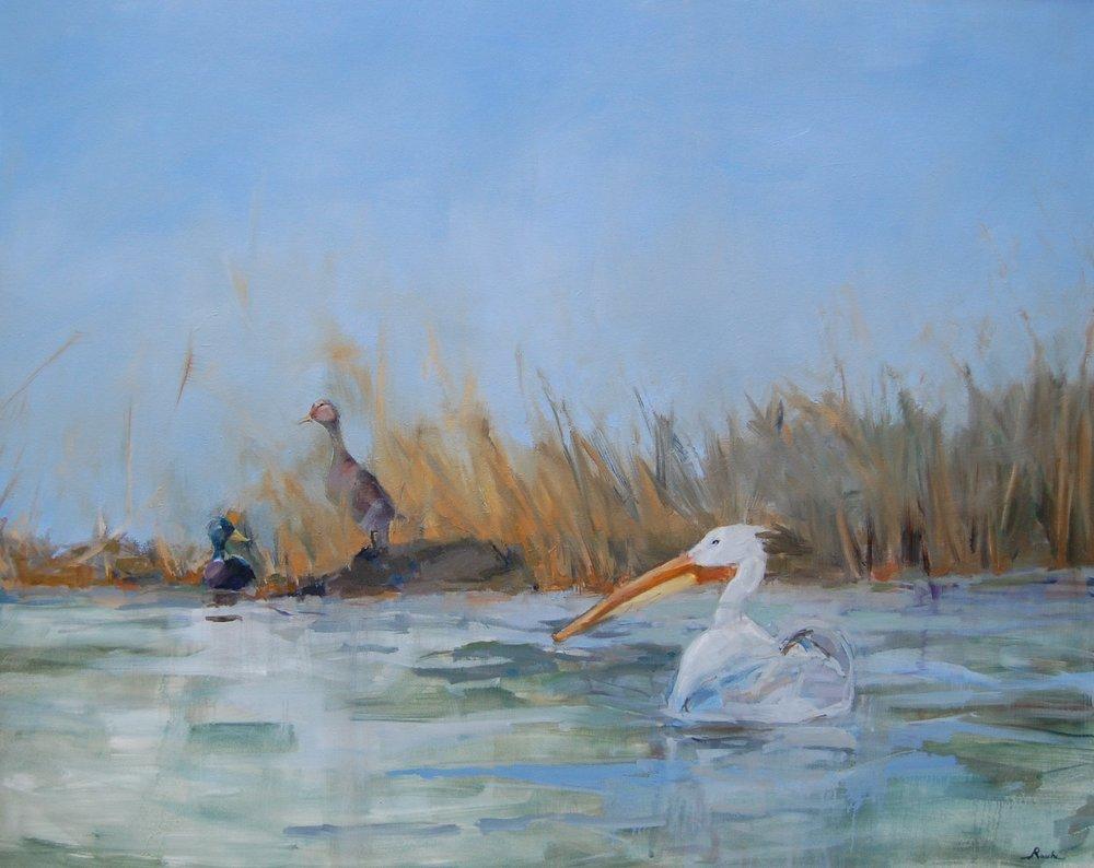 blue skies - Jessie Rasche48 x 60  Oil on canvas