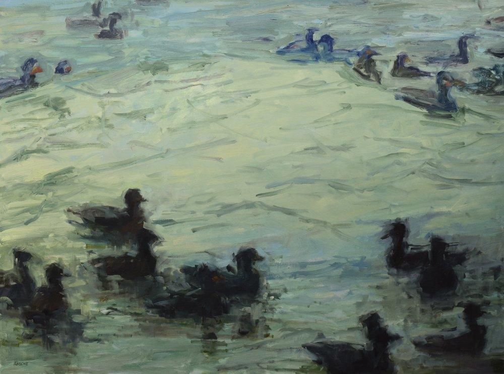 bath time - Jessie Rasche40 x 30  Oil on canvas