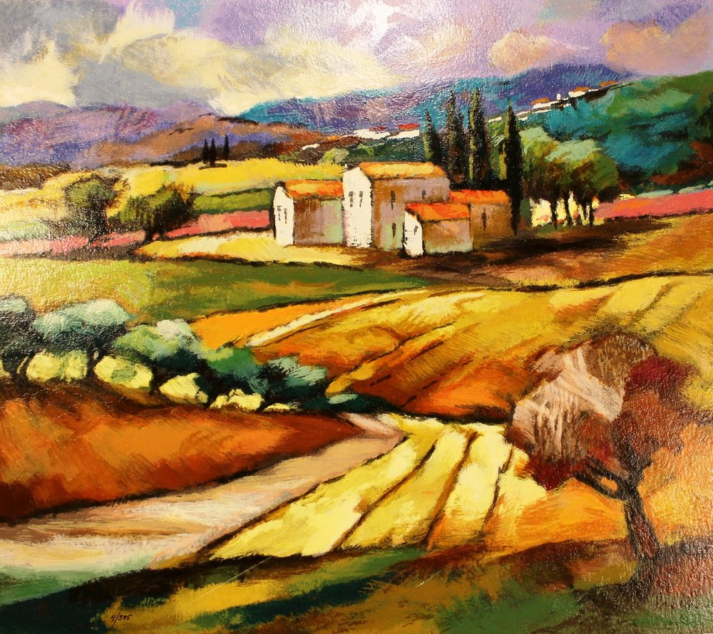 tuscan region - Brodin19 x 22  Limiteed edition serigraph