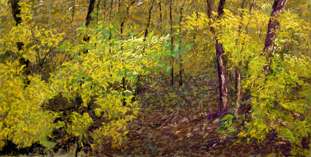 madison arboretum ii - Denise Presnell18 x 36    Oil on paper
