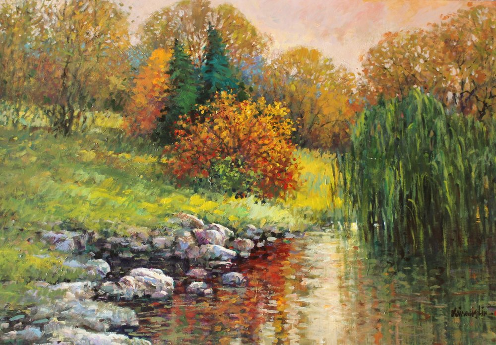 just beyond the pond - Kai Liu44 x 30  Oil on paperSee more from this artist