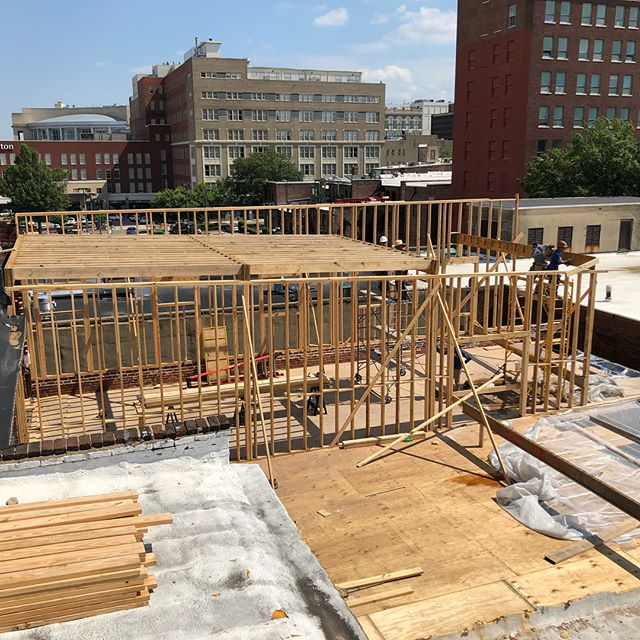 Need to reinforce and extend half a city block worth of office space? No sweat.  @urbancoreva @gatherrva #wedothat #nosweat #adaptivereuse #rebuild #timber #downtownrva