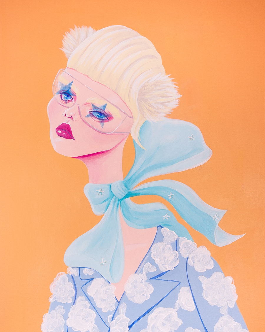 Schiaparelli Spring Couture 19 Acrylic on paper 11 x 13in