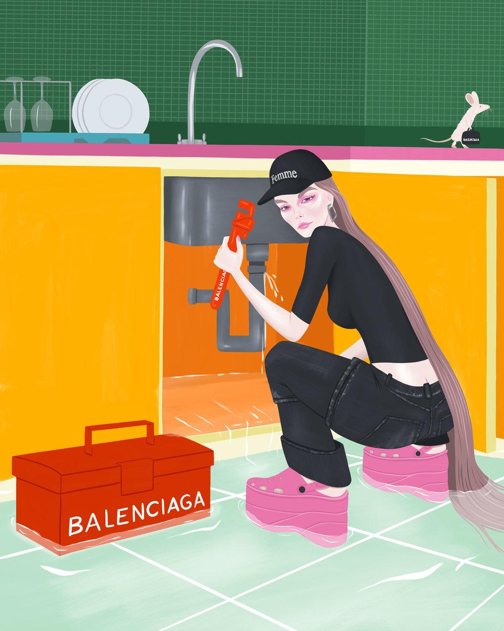 Balenciaga Plumber, 2018