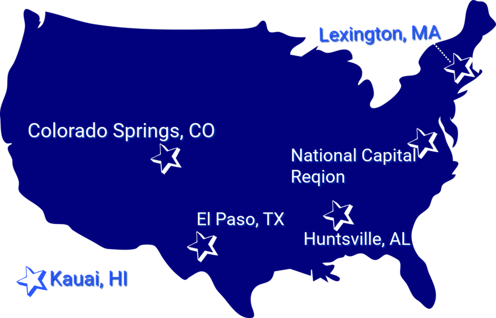 nou Systems supports customers throughout the United States.