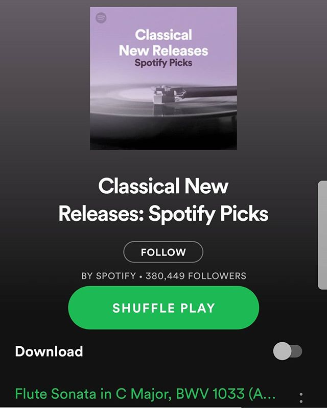 Happy to see my new track with @oliverwassharp and @iainward87 at the top of @spotify #spotifyplaylist #classicalnewreleases 😊❤🎷 . . . . @orchidclassicslabel @absolute_classics #classicalalbum #newrelease #saxophone #harpandsaxophone #harp #cello #music #baroquestyle #arrangement