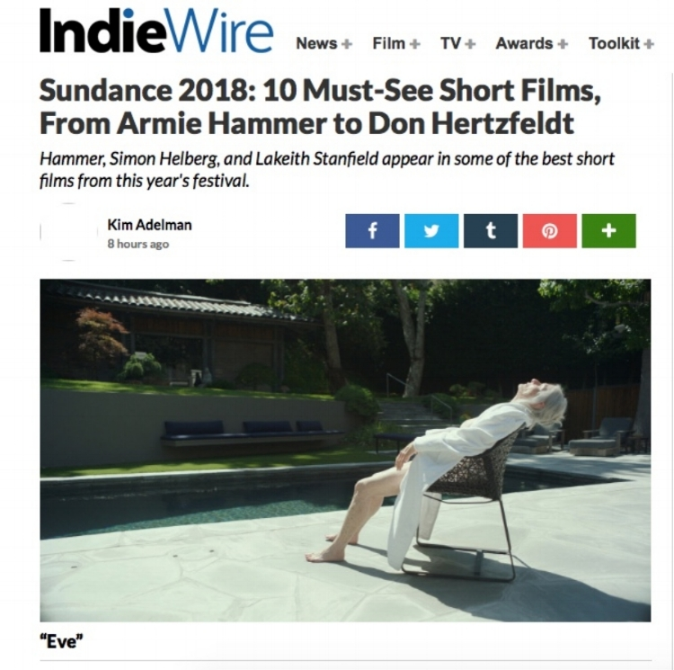 Indiewire, Jan 18, 2018