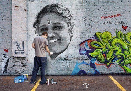 Saint Amma street art