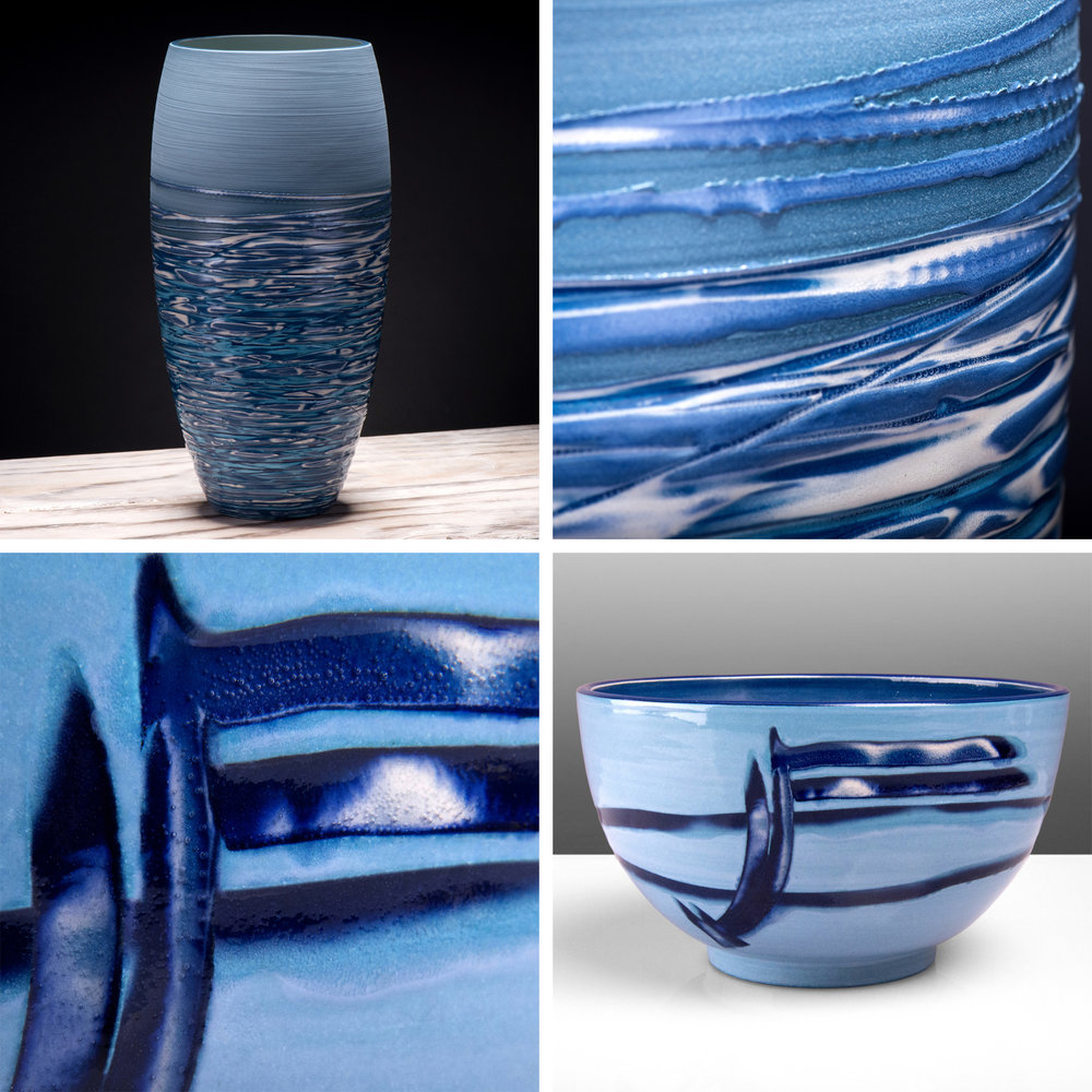 "A selection of my Reef and Coast Series ceramics are on show at Artichoke Gallery, Ticehurst, East Sussex ""Across the Water"" Exhibition 1st July to 23rd September 2017 (Private View 30th June 6-8pm)    www.artichokegallery.co.uk"
