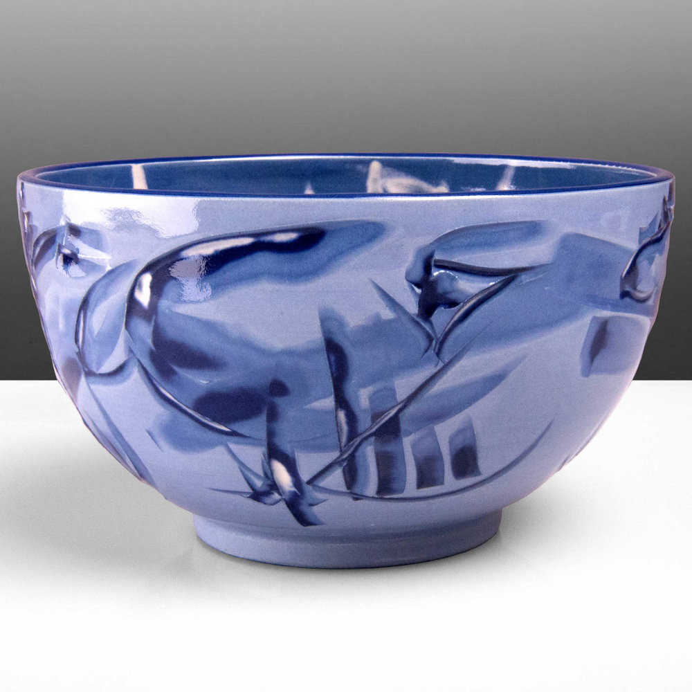 Lilac Purple Ceramic Bowl Reef Series by Rowena Gilbert