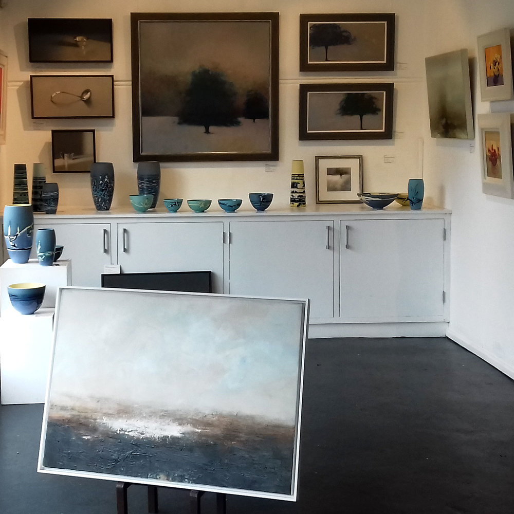 Here's a snap of the corner I have my ceramics in. Please do pop in to see the whole show, there's so much wonderful art on display.    www.cameroncontemporaryart.com