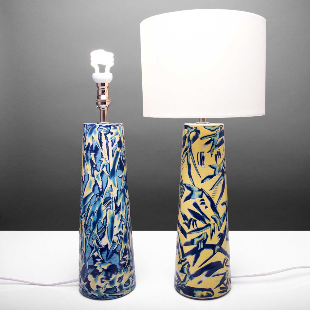 Carrio Ceramic Table Lamps Reef Series by Rowena Gilbert