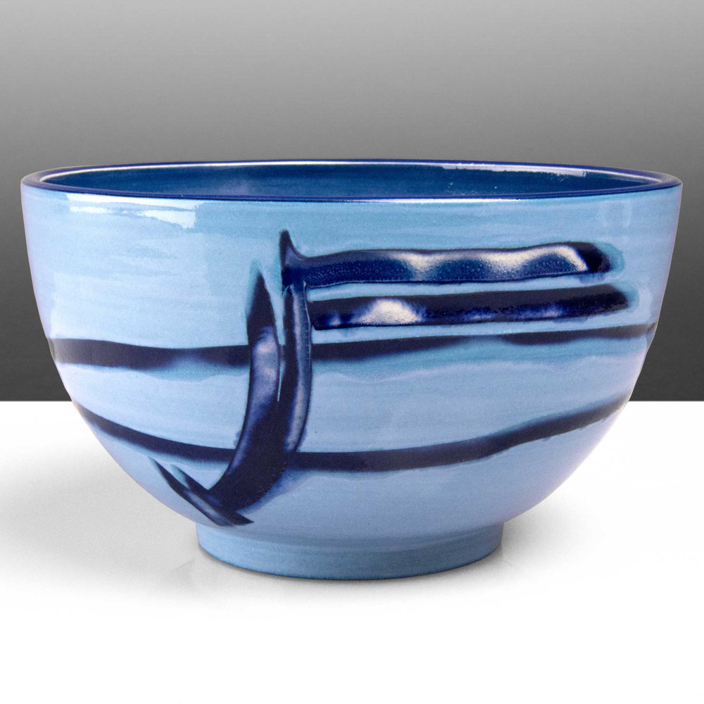 Blue Reef Series Ceramic Bowl by Rowena Gilbert