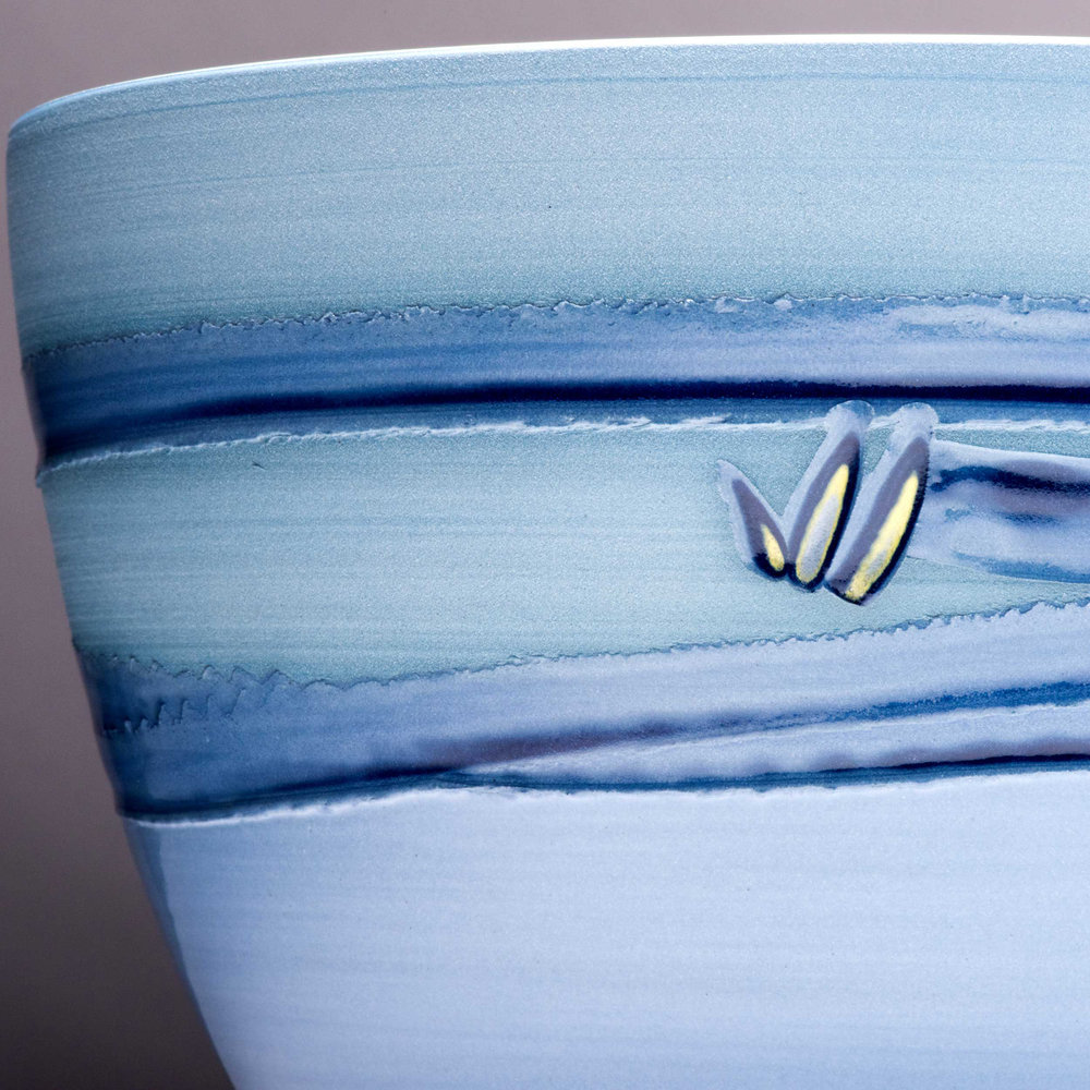 Blue Wave Ceramic Design Coast Series by Rowena Gilbert