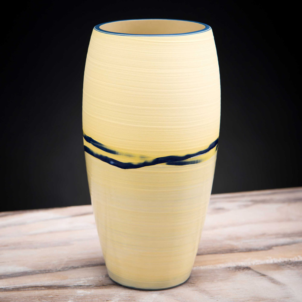 Yellow Sand Shore Ceramic Vase Coast Series by Rowena Gilbert