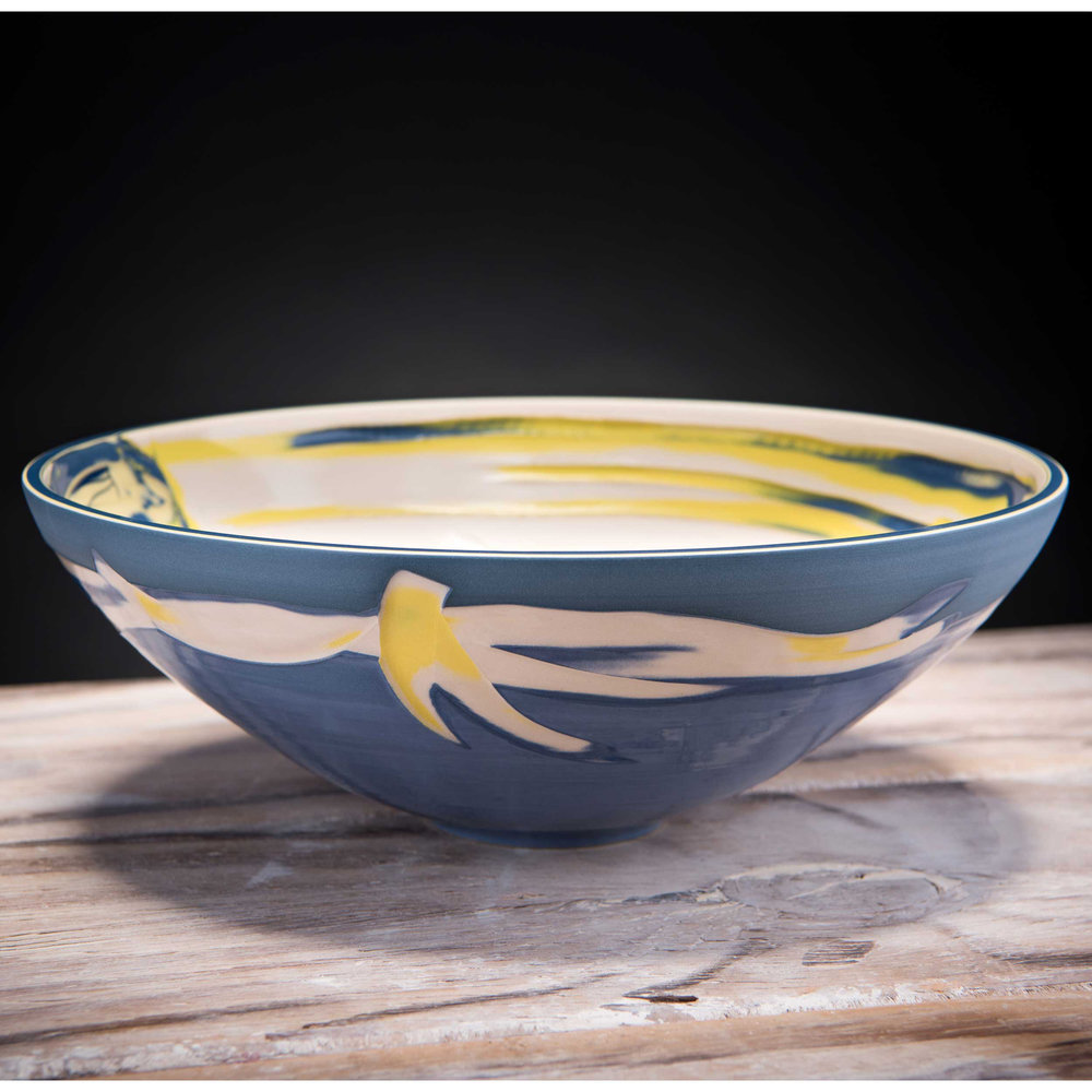 Large Ceramic Centre Bowl Coast Series by Rowena Gilbert