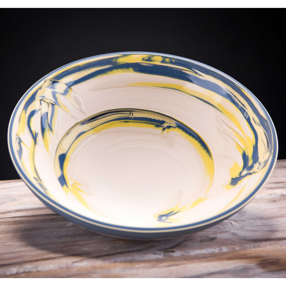 Large Ceramic  Bowl Coast Series by Rowena Gilbert