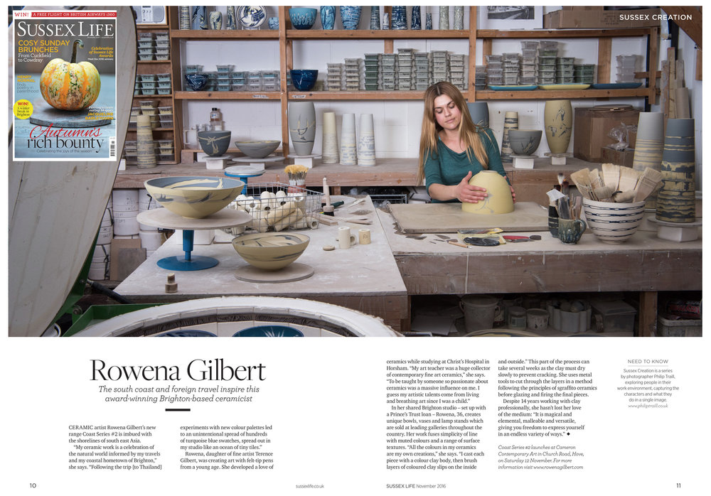 Feature in Sussex Life Magazine.  November 05, 2016